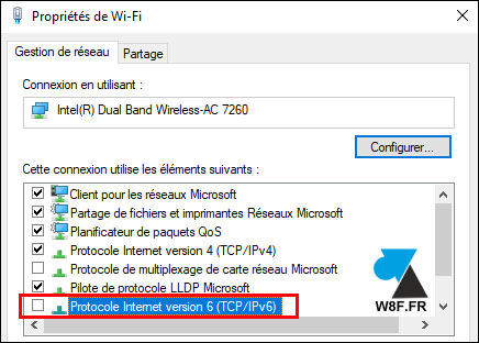 tutoriel Windows 10 Wifi IPv6
