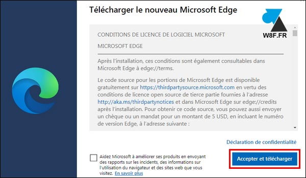 tutoriel télécharger Edge 2020 Chrome Windows 7 W7
