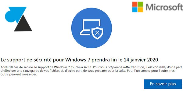 Fin du support de Windows 7 depuis le 14 janvier 2020 : que faire ?