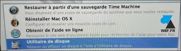 tutoriel réinstaller macOS Mac OS X francais utilitaire disque
