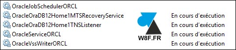 tutoriel services Oracle Windows