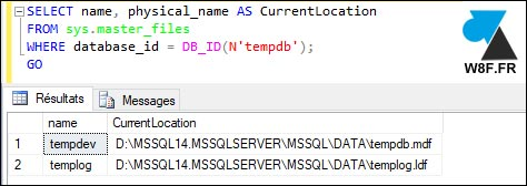 SQL Server where is tempdb mdf ldf
