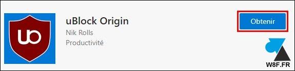 tutoriel telecharger ublock origin Edge 2020 bloqueur de pub