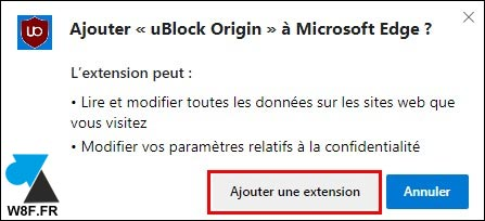 tutoriel telecharger ublock origin Edge 2020 bloqueur de pubs
