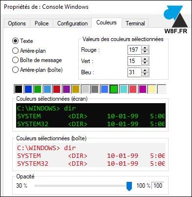 Changer Les Couleurs De L Invite De Commandes Cmd Windowsfacile Fr