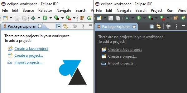 Changer le thème graphique de Eclipse IDE