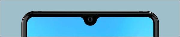 ecran goutte d'eau smartphone pinhole