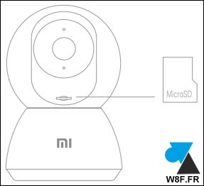 camera Xiaomi Mi Home Security 360 carte micro SD