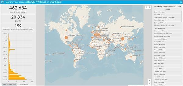 covid19 coronavirus OMS map