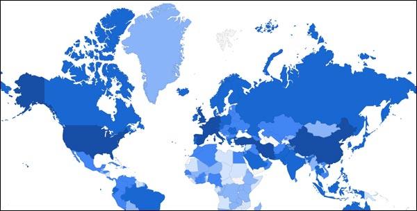 carte Google Maps coronavirus covid-19