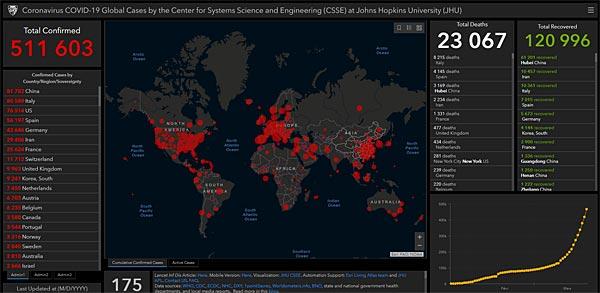 covid19 coronavirus map