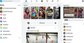 Facebook 2020 new design