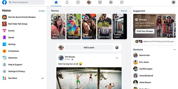 Installer la nouvelle version 2020 de Facebook