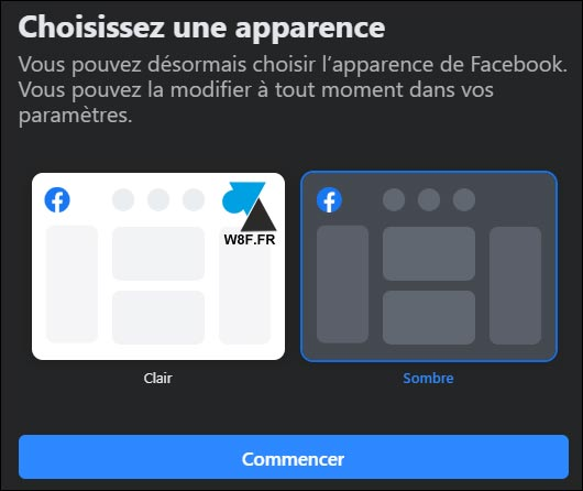 tutoriel Facebook 2020 theme dark sombre noir