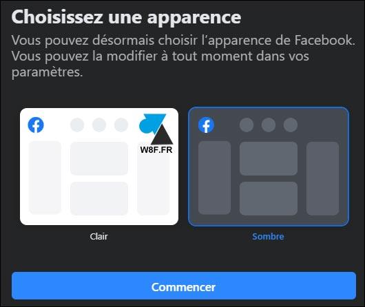 tutoriel Facebook 2020 theme dark sombre noir