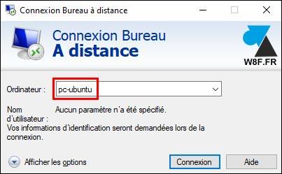 tutoriel Bureau à distance RDP mstsc