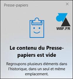 tutoriel activer historique presse papier Windows copier coller