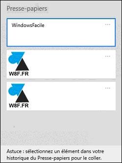 tutoriel historique presse papier Windows copier coller