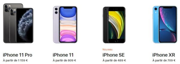 iPhone gamme 2020