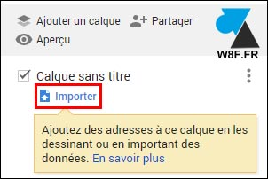 tutoriel Google My Maps importer gpx