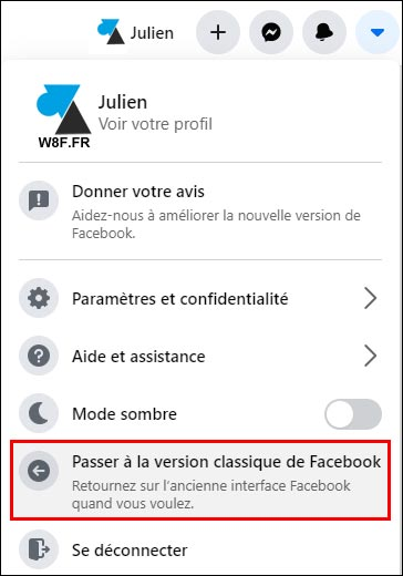 Facebook revenir ancienne version web