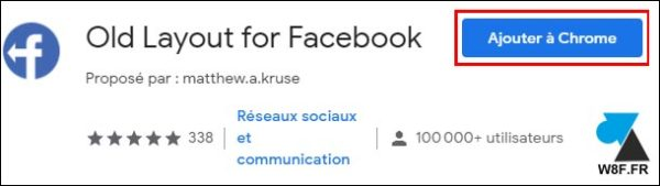 tutoriel Facebook ancienne version add-on Chrome extension