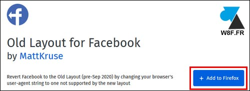 tutoriel Facebook ancienne version add-on Firefox extension