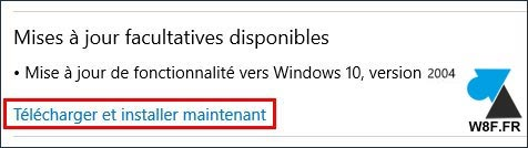 tutoriel installer Windows 10 2004 update mise à jour