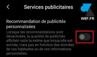tutoriel Xiaomi paramètres desactiver publicité ciblée
