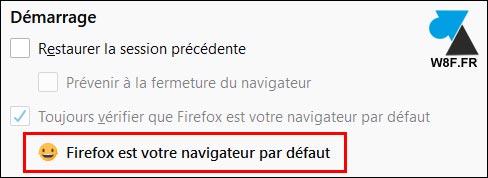 Firefox navigateur par défaut oui