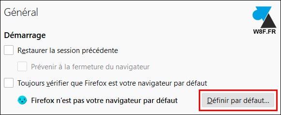 tutoriel Firefox définir navigateur par défaut