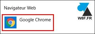 tutoriel Google Chrome navigateur par défaut Windows 10