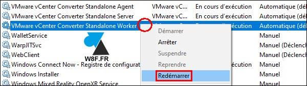 VMware Converter Worker service restart
