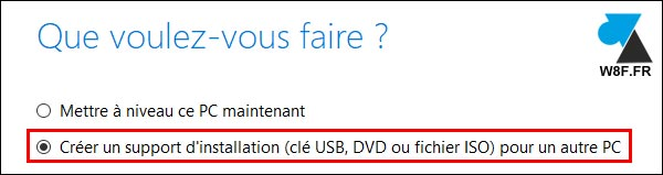 Windows 10 Media Creation Tool clé usb dvd iso