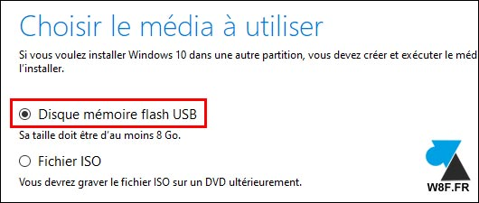 Windows 10 Media Creation Tool clé usb