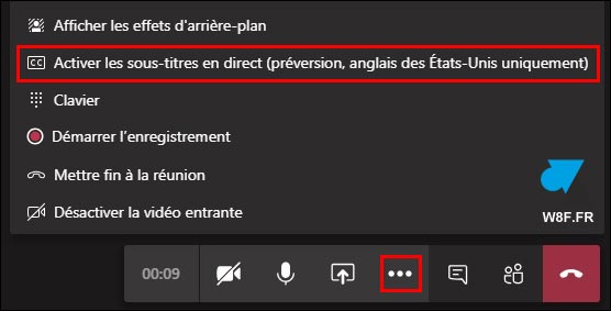 tutoriel Microsoft Teams transcription écrite réunion audio video