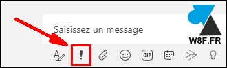 tutoriel Microsoft Teams message urgent