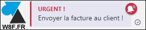 tutoriel Microsoft Teams message urgent rouge