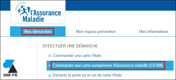 tutoriel commander carte européenne assurance maladie