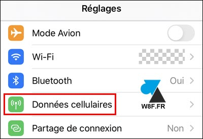 tutoriel iOS iPhone iPad reglages donnees cellulaires