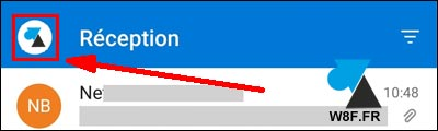 tutoriel Outlook Android menu