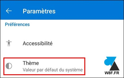 tutoriel Outlook Android theme