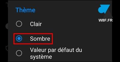 tutoriel Outlook Android theme sombre noir dark mode