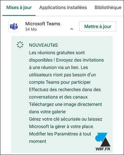 nouveautés aout 2020 Microsoft Teams