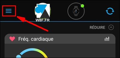 tutoriel notification application montre Garmin