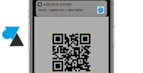 tutoriel qr code iphone