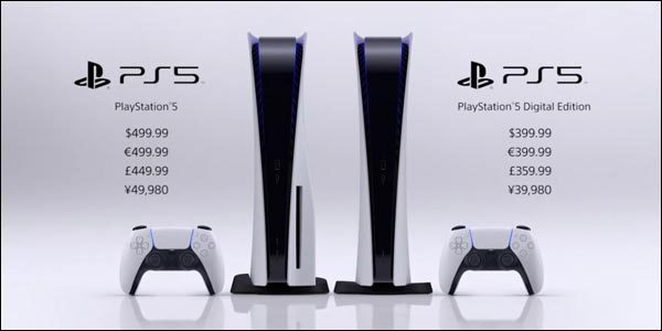 Sony PS5 PlayStation 5 prix