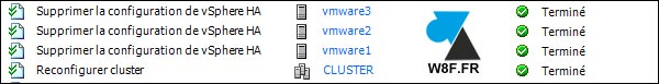 VMware vSphere Client supprimer HA