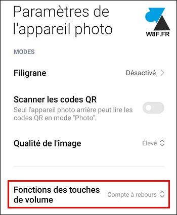 Xiaomi smartphone Miui 12 déclencheur appareil photo