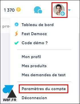 tutoriel supprimer compte Demooz